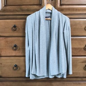 Super soft brushed rib cardigan